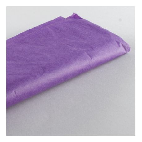Feuilles papier de soir mousseline fushia 50x75 cm