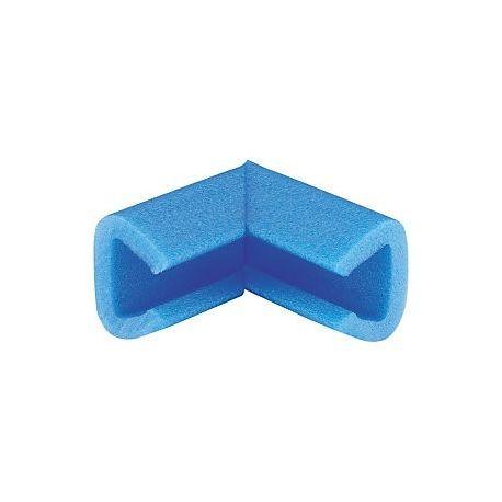 Profilé d'angle coin mousse bleu en forme U 20/35 100x100 m/m
