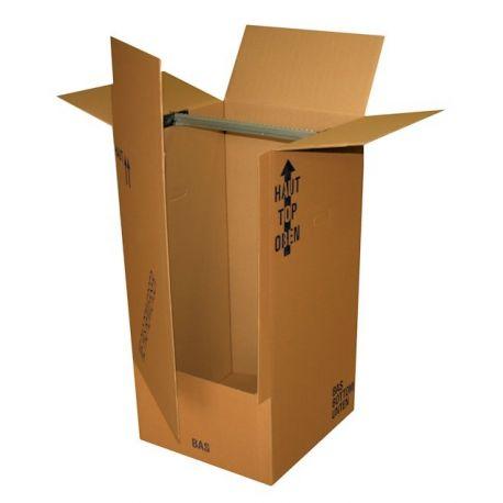 Penderie carton pour déménagement stockage