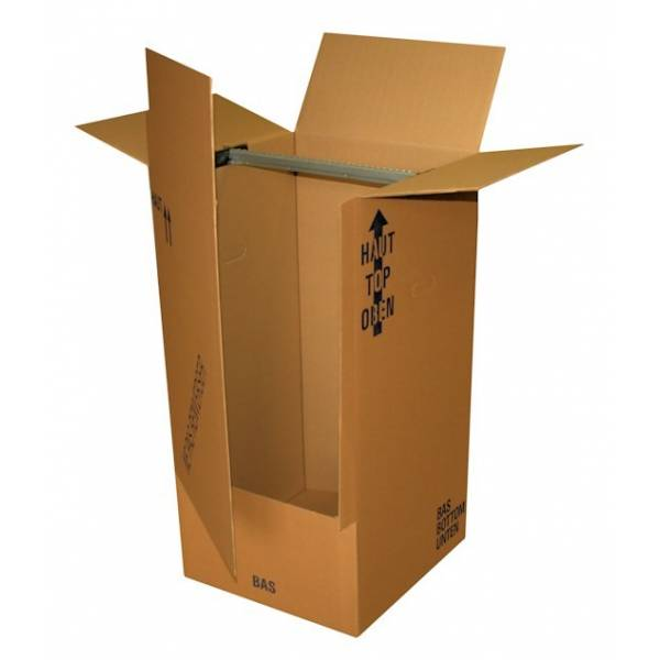 penderie carton pour v tements 500x500x1000 m m emballage garrigou. Black Bedroom Furniture Sets. Home Design Ideas
