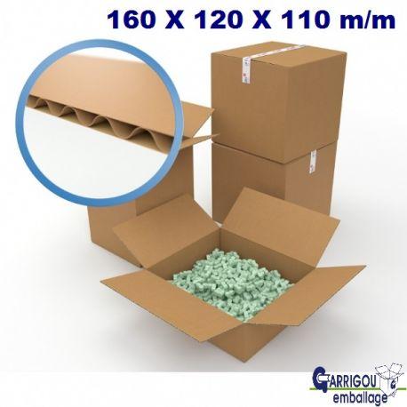 Carton d'emballage 160 x 120 x 110 mm