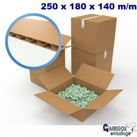 Carton d'emballage 250 x 180 x 140 mm
