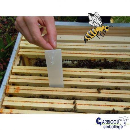 Bandelettes carton gris traitement du Varroa Apiculture